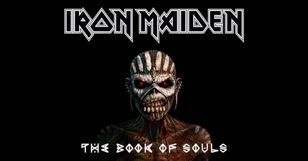 "The cover of Iron Maiden's ""Book of Souls,"" 2015 album."