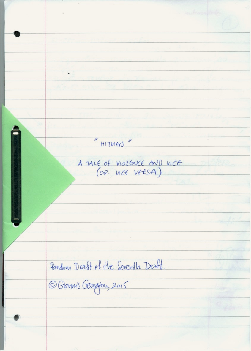 The script's cover.